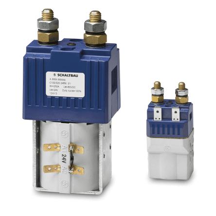 Контакторы для цепей аккумуляторных батарей погрузчиков, электрокаров и систем бесперебойного питания Серия С100/80